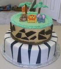 boy safari themed baby shower cake
