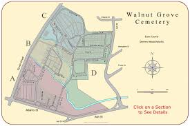Ma Map Walnut Grove Cemetery Danvers Massachusetts Burial Records
