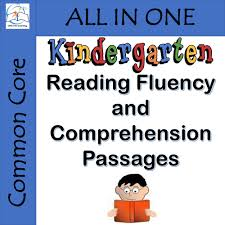 kindergarten reading fluency and comprehension passages by