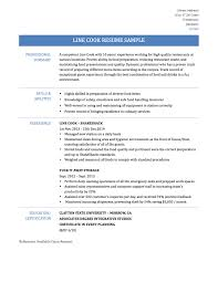 Resume Sample Key Competencies by Line Cook Resume Examples Resume For Your Job Application