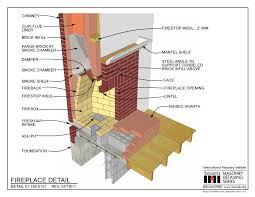 masonry fireplace construction details fireplace ideas