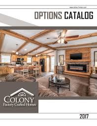 colony homes options catalog 2017 by the commodore corporation issuu