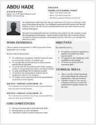 Resume Template Odt Actuarial Analyst Resume Contents Layouts U0026 Templates Resume