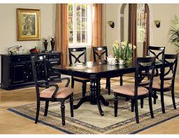 black dining room sets black wood dining room set beauteous decor black wood dining room