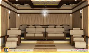 home theater bedroom and dining interior kerala home design and