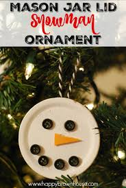 easy jar lid snowman ornament for to make