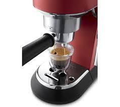 delonghi magnifica red light buy delonghi dedica ec685 r coffee machine red free delivery