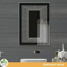Bathroom Infinity Mirror Norhs Luxury Wall Mount Contemporary Frameless Infinity Design Led