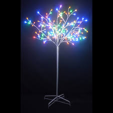 6 ft twig tree with white trunk and 156 led color changing