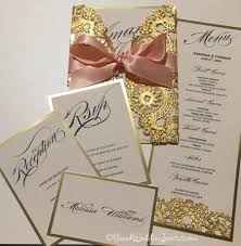 wedding invitation rsvp date gold invitation card u0026 rsvp lasercut invitation card save the
