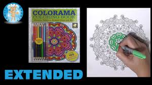 colorama coloring book as seen on tv flowers paisleys stained