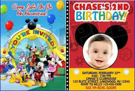 mickey mouse first birthday party invitations home design ideas