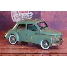 vintage renault miniature auto métal vintage renault 4cv retro wheels