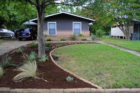 and after yard makeover front before and after with drought small