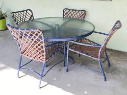 Brown Jordan Patio Set by Vintage 60s Brown Jordan Patio Chairs Glass Table In Hollywood
