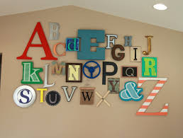 Letter Decorations For Nursery a playroom full of fun alphabet wall playrooms and walls