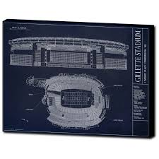 Gillette Stadium Floor Plan by Gillette Stadium New England Patriots Superbowl Ballpark