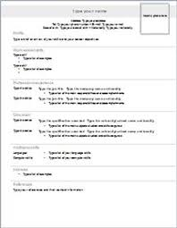 Resume Example Templates by Resume Templates Word Free Download Http Jobresumesample Com