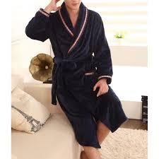 robe de chambre hommes robe de chambre homme polaire bleu marine lepeignoir fr