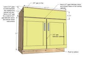 Cabinet Door Dimensions Standard Kitchen Sink Base Cabinet Size Rapflava