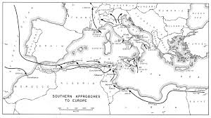 Map Of Southern Europe by Advances In North Africa And Southern Europe 1942 U20131944
