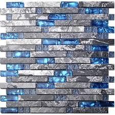 Blue Backsplash Tile Amazoncom - Blue backsplash