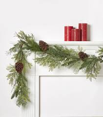 white frosted berry pinecone garland joann
