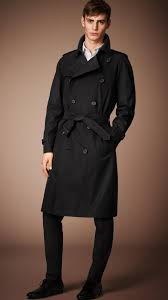 burberry the westminster long heritage trench coat in black for