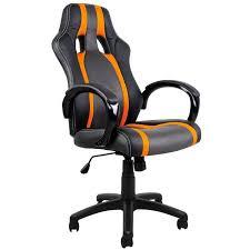 Chaise Bureau Sport Fauteuil Noir Gris Orange Achat Vente Chaise De Bureau