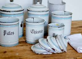 enamel kitchen canisters vintage enamel kitchen canisters maison brocante