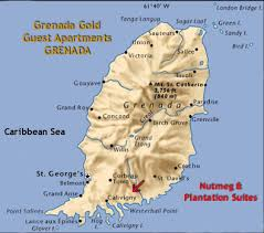 grenada location on world map grenada gold accommodation apartment plantation nutmeg