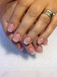 acrylic but looking natural teresa u0027s nails pinterest