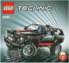 lego police jeep instructions lego extreme cruiser instructions 8081 technic