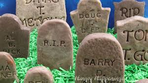 gravestone sayings cookies n fudge tombstones add clever epitaphs to candy