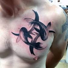tattoo care swimming 60 pisces tattoos for men astrology ink design ideas chest