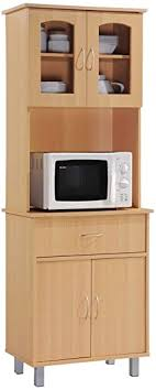 kitchen cabinet with top and bottom hodedah standing kitchen cabinet with top bottom enclosed cabinet space one drawer large open space for microwave beech