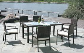 Wicker Style Outdoor Furniture by Plain Style Outdoor Wicker Dining Table Set Plain Style Outdoor