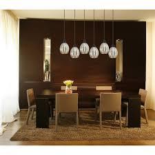 Oval Wooden Glass Dining Table Dining Room Charming Lamp Ball For Classical Dining Room Fixture
