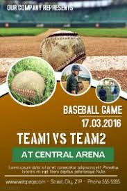 customizable design templates for baseball flyer template