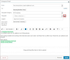 creating and editing email templates icims customer
