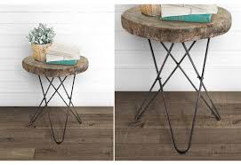 Wood Accent Table Wood Slab Accent Table Vintage Inspired