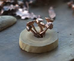 electroforming copper real mushrooms electroformed with copper pendant