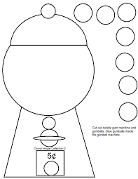printable gumball machine template coloring pages of bubblegum for