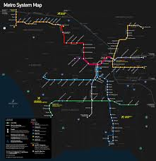 La Metro Train Map by
