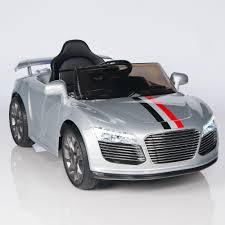 Audi R8 Silver - audi r8 style 12v ride on car w remote control rc mp3 port and