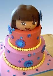 teal pink dora birthday cake dora cakes party ides
