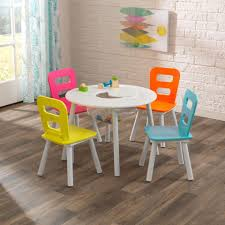 Kidkraft Outdoor Table And Chair Set Round Storage Table U0026 4 Chair Set Highlighter