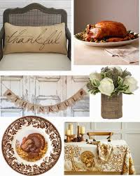 a rustic brown thanksgiving table