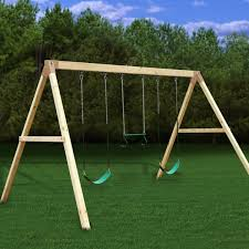 Backyard Set Backyard Swing Set Kits For Sturdy Wood Playsets That Are Easy To