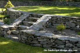 Retaining Wall Stairs Design Rock Retaining Wall Planter Stairs